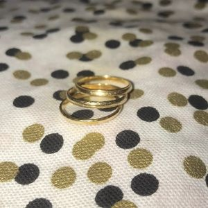 Three 14kt vintage yellow gold bands